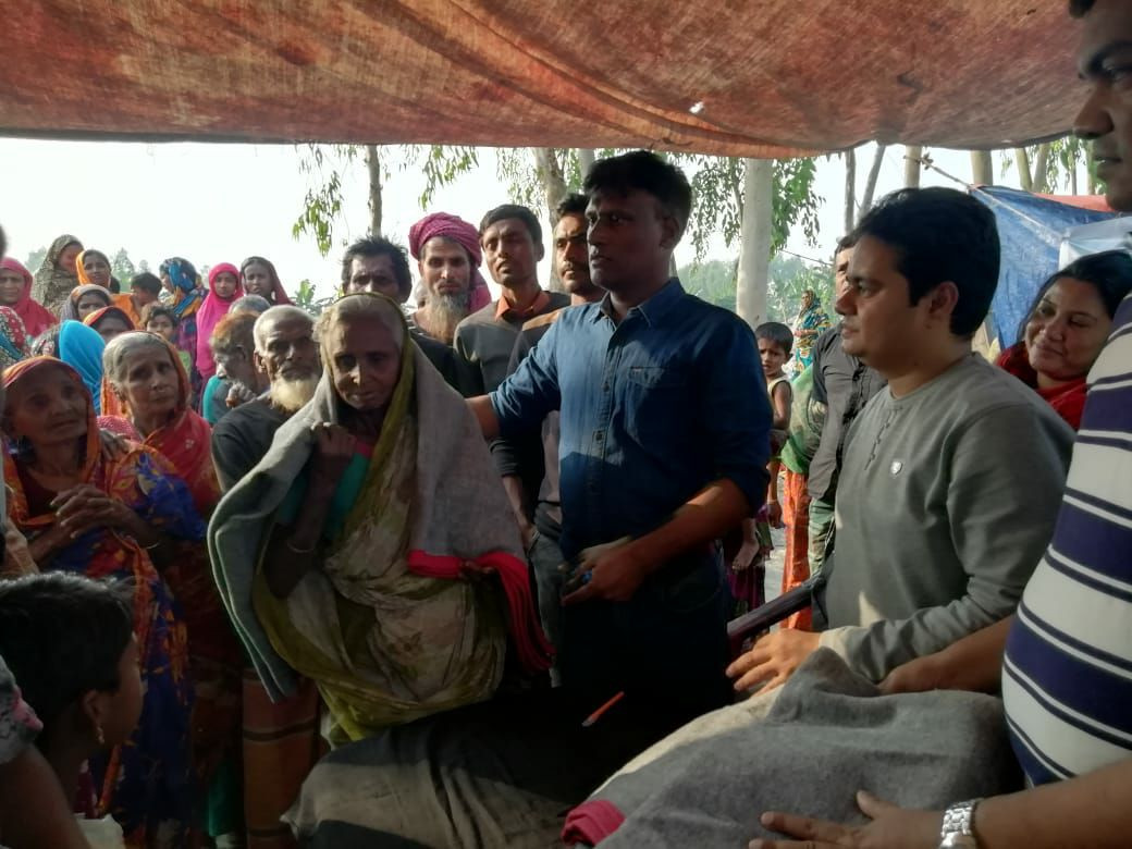 Blankets Distributed Camps